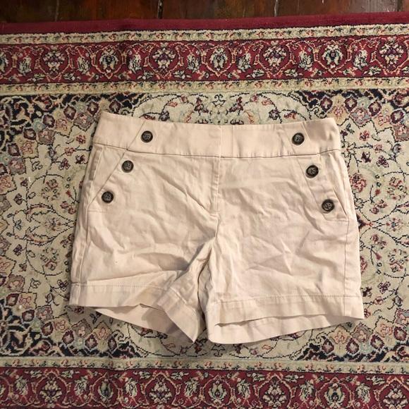 White House Black Market Pants - whbm tan side button shorts